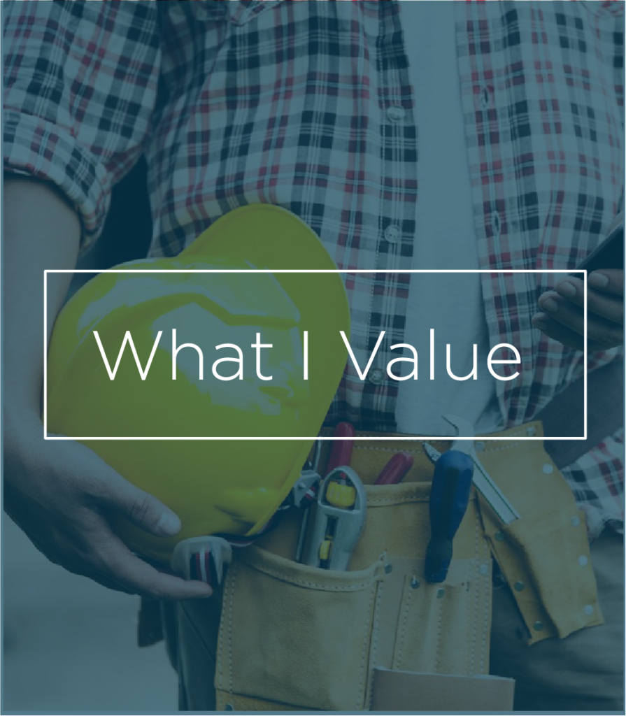 Builder tools photo - My Edge, What I Value | Contracts Specialist