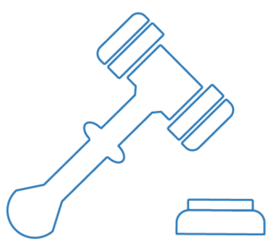 Gavel icon to show what a judge used in Sydney's Court- Building Liability | Contracts Specialist