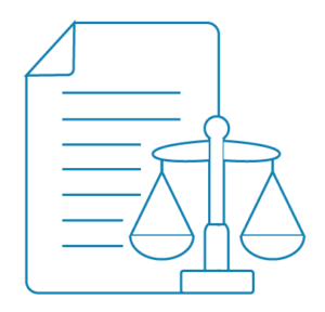 Document and scale representing adjudication as per advice of a Security of Payments lawyer | Contracts Specialist