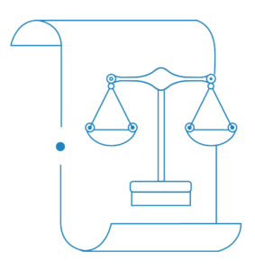 Law scale icon to be used in drafting a building contract in Sydney | Contracts Specialist