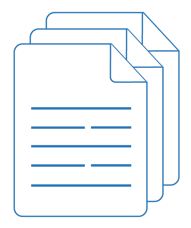 Set of documents icon – Contract Clauses | Contracts Specialist