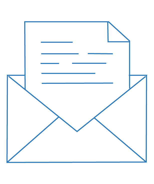 Opened letter icon – Mediation and Arbitration   Contracts Specialist