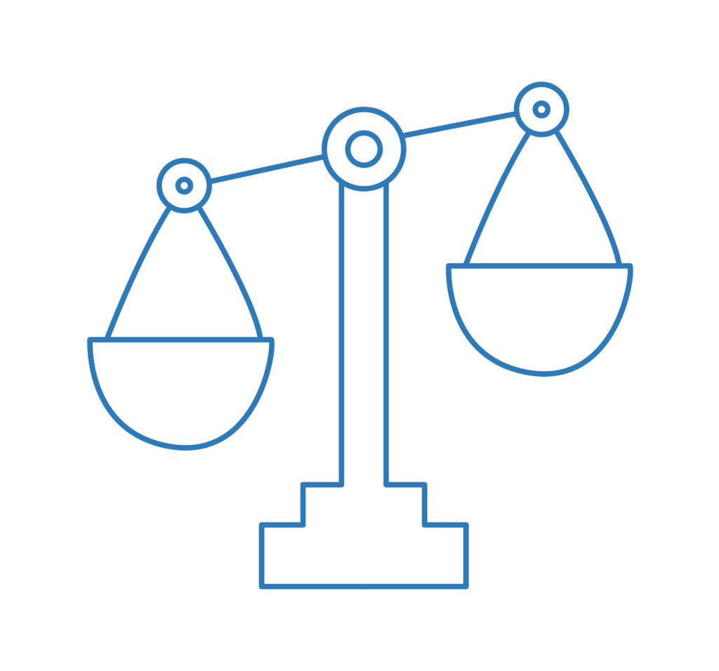 Weighing scale icon – Extension of Time Contracts | Contracts Specialist