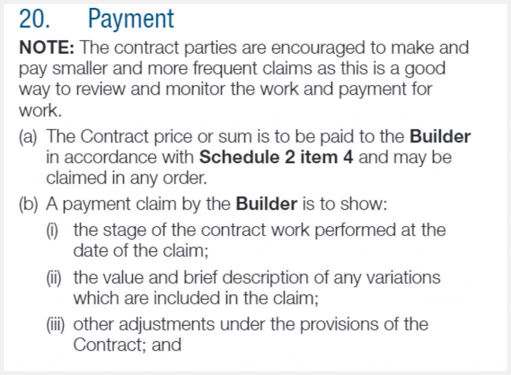 progress payment NSW