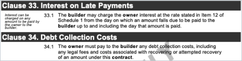 Security of Payment Clause on HIA Contract