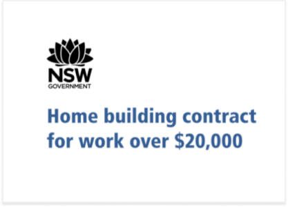 OFT Home building contract for work over $20,000